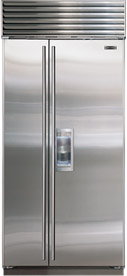 Sub Zero 685 S 42 Stainless Steel Side By Refrigerator With Dispenser