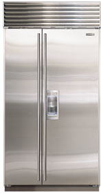 Sub Zero 695 S 48 Quot Stainless Steel Side By Side Refrigerator