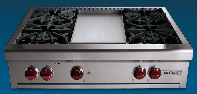 "Wolf RT364G - 36"" Gas Rangetop with Griddle"