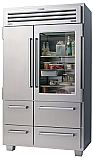 "Sub Zero 648PROG- 48"" Stainless Steel, Side by Side Refrigerator with Glass Door"