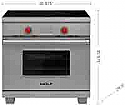 "Wolf IR365TE/S/TH 36"" 5 Burner Transitional Induction Range, SS"