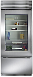 "Sub Zero 650G/S-Left Hinge - 36"" Stainless Steel, Over/Under Refrigerator with Glass Door"