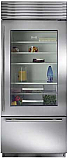 "Sub Zero BI-36UG/S/TH-Right Hinge - 36"" Stainless Steel, Over/Under Refrigerator with Glass Door"