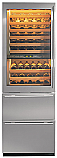 "Sub Zero 427RG-LH - 27"" Stainless Steel Freestanding Wine Storage w/ Glass Door and 2 drawers-Left Hinge (78 bottles)"