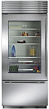 "Sub Zero BI-36UG/S/TH-Left Hinge - 36"" Stainless Steel, Over/Under Refrigerator with Glass Door"