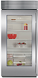 "Sub Zero BI-36RG/S/TH-Left Hinge - 36"" Stainless Steel, All Refrigerator w/ Glass Door"
